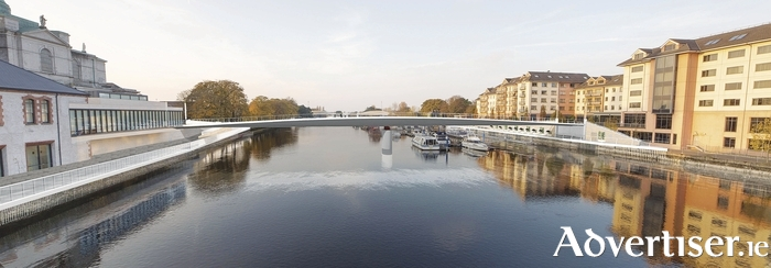 The new design of the proposed cycleway and pedestrian bridge across the Shannon