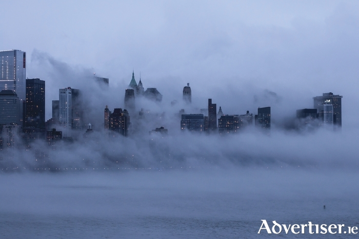 Fog over Manhattan.