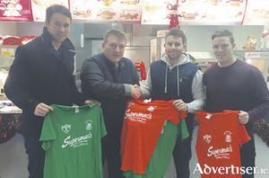 (Picture L-R Finian Hanley, Anthony O' Reilly (Supermac's, Salthill), Diarmaid Ó hAodha, and Kevin Conlon prepare for the annual John Joyce Memorial Sevens on St Stephen's Day,  the proceeds of which will go to Pieta House West.