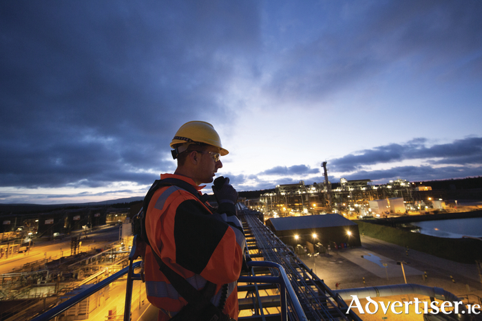 An operations technician at work in  Bellanaboy gas terminal. File Photo