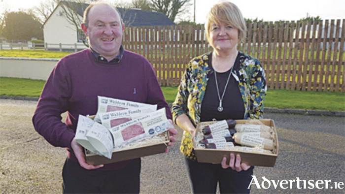 Michael and Yvonne Waldron show off the new packaging