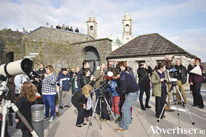 Some of the 230-strong in attendance on the morning of March 20 to view the partial solar eclipse from MAC's Athlone observing site