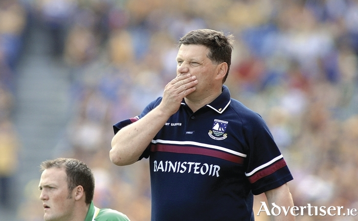 John O'Mahony in his Galway football manager days. The upcoming election will give him as much to ponder as anything Gaelic football threw at him.