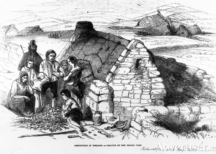 Irish potato famine immigration map