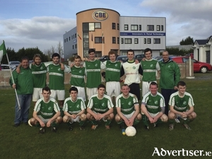 The Claremorris FC team who are looking to claim the Permier A title on Saturday