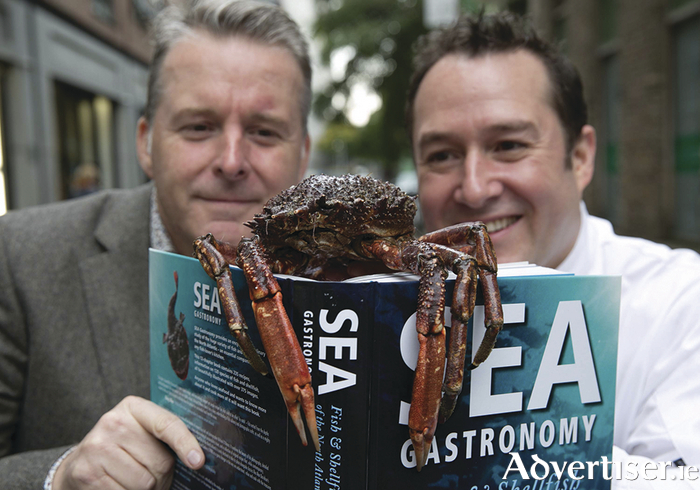 Michelin Star chef Ross Lewis with Michael O'Meara at the launch of the book in October. Photo: Shane O'Neill Photography.