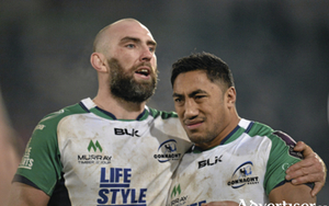 Connacht captain John Muldoon consoles Bundee Aki after Connacht lose to Brive in their Challenge Cup fixture in France.   Coach Pat Lam is expecting a big response in their final game against Enisei at the Sportsground on Saturday. 				Picture: Ray Ryan / SPORTSFILE