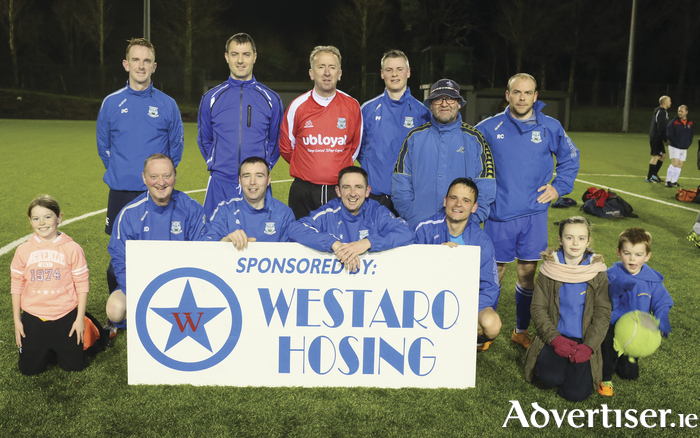 The Manulla side who are taking part in the Mayo League Masters Competition. Photo: Michael Donnelly