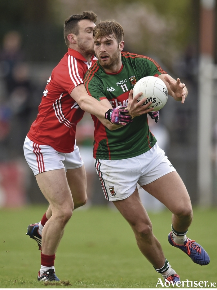 Back in green and red: Aidan O'Shea will line out for Mayo for the first time this year against Cork on Sunday. Photo: Sportsfile