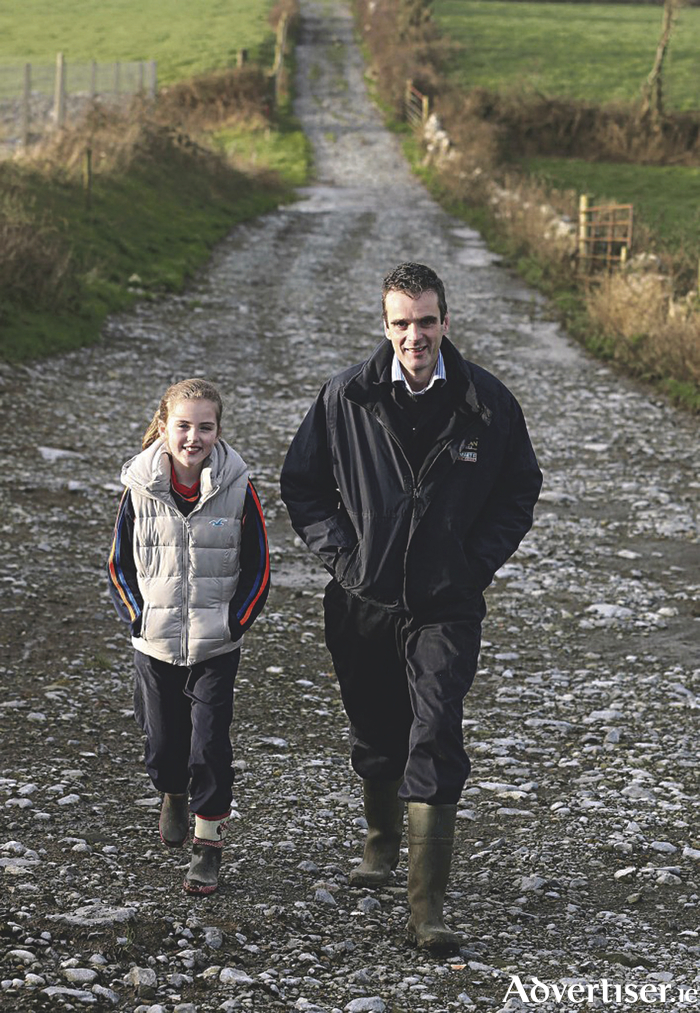 Joe Healy with his daughter Anna. Pic : Lorraine O'Sullivan