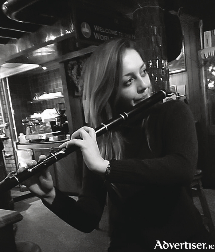 Jillian O'Malley will be going for a national title on the flute this evening.