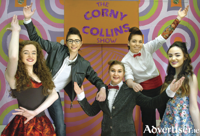Always showcasing its school's wonderful musical talent, cast principals in Ballina's St Mary's Secondary School musical Hairsprayed which commences its four-night run in the Convent Hall from February 9 to 12. From left: Emer Doherty (Francesca Montez), Ailish Tighe (Ryan Molloy), Niamh Connor (Corny Collins), Abigail Goldrick ( Pedro Montes), and Kaylyn McGrath (Tracey Atkinson). Photo: Henry Wills.