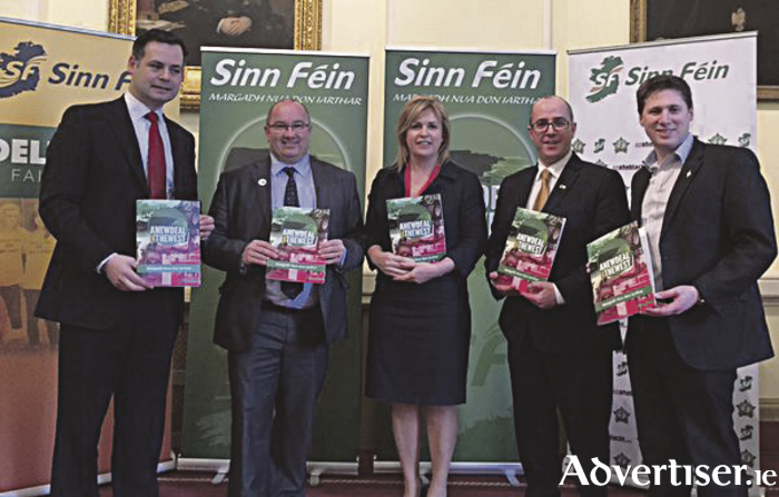 Sinn Féin has launched a Stand Up for the West plan.