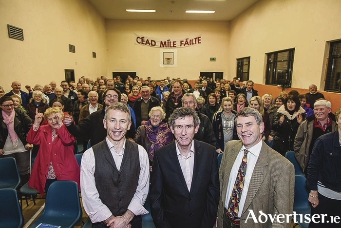 Dr Jerry Colwey and his supporters at his campaign launch for the upcoming General Election.