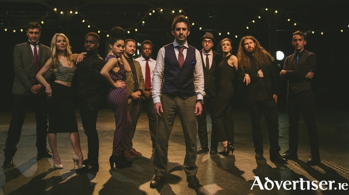 Scott Bradlee (centre) and his Postmodern Jukebox.