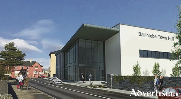 An architects drawing of the new town hall for ballinrobe