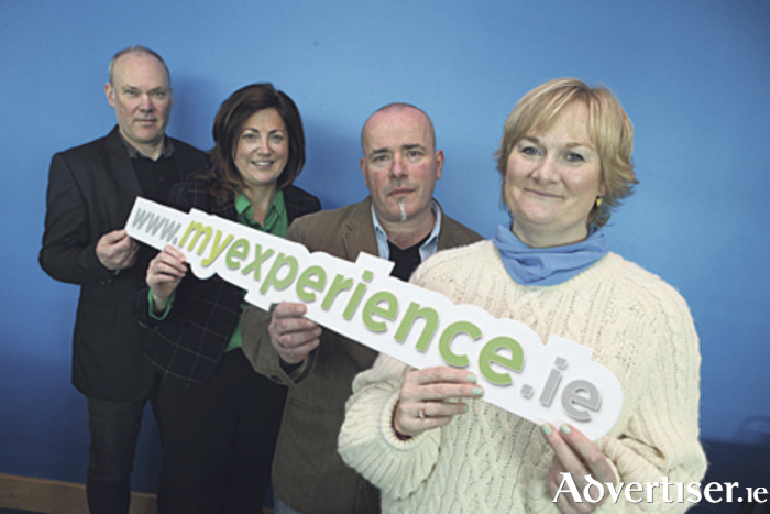 From left: Gavin Clinch, IT Sligo, project team, myexperience.ie; Dr Carina Ginty, project manager, myexperience.ie; Nigel Murray and Lucy Bracken, students in the GMIT School of Science who recently completed the RPL application at www.myexperience.ie to gain advanced entry to a Level 9 certificate in food innovation and entrepreneurship at GMIT. Missing from the picture is Oran Doherty, LyIT, the third member of the project team myexperience.ie.