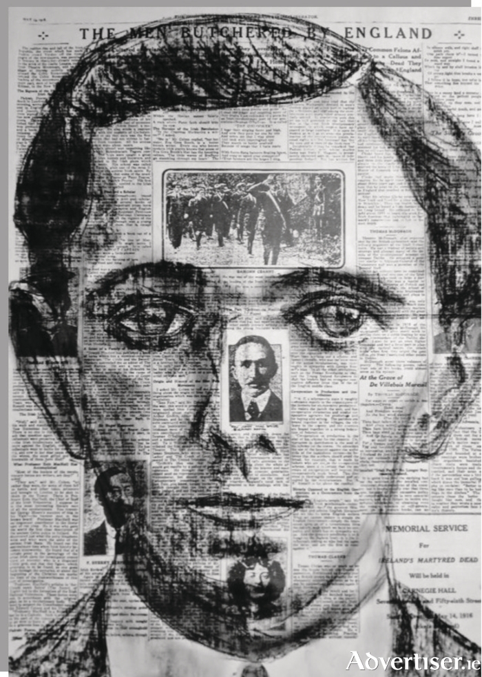 Christopher Banahan's portrait of Seán Mac Diarmada.
