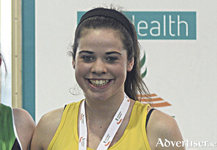 Chloe Casey of Loughrea AC , silver medal winner in the U15 shot putt at the National Juvenile Championships.