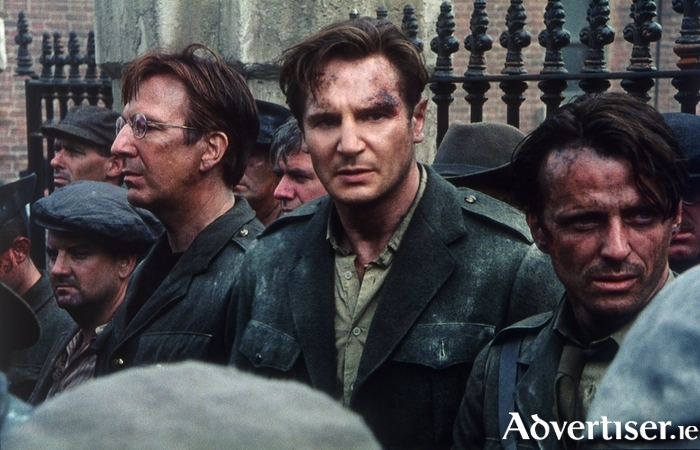 Liam Neeson as Michael Collins in the aftermath of the 1916 Rising.