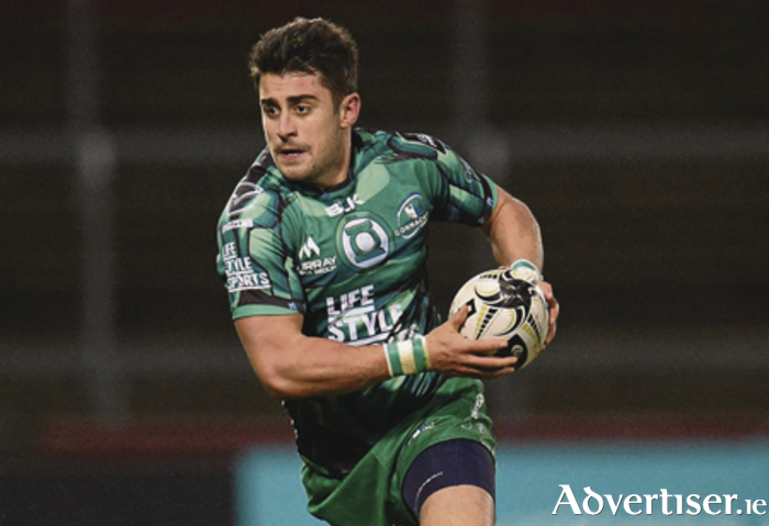 Licence to attack:  Fullback Tiernan O'Halloran, in Connacht's win over Munster, will looking for another interprovincial victory whenLeinster visit the Sportsground in  Saturday's top of the table clash.