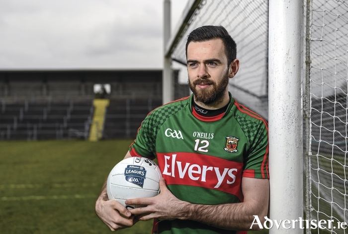 Ready for action: Kevin McLoughlin is looking to get Mayo back to winning ways this weekend. Photo: Sportsfile
