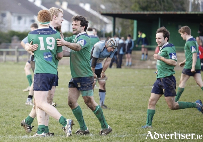 Will they be celebrating Sunday? Ballina will be looking to stop Westport from winning the treble of League, Cawley Cup and Junior Cup in Sunday's Connacht Junior Cup final. Photo: Ballina RFC
