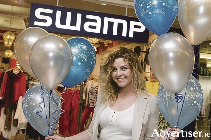 Yvonne Nolan, manager of Swamp pictured at the launch of the Eyre Square Shopping Centre 25th birthday celebrations.