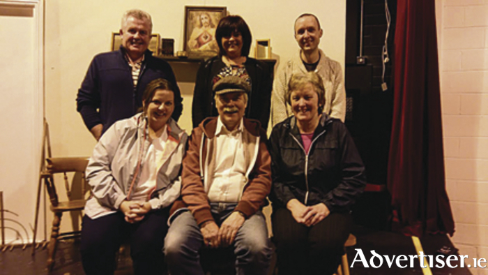 Pictured are the cast of Parke Drama's upcoming production of The Country Boy. Back Row (l-r): Seamus Beirne, Fiona Campbell, and Eamon McNicholas. Front: Maria Jordan, John Daly, and Mary Neary.