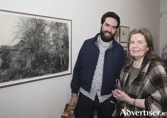 Sean and Pearl King, Crossmolina, pictured at the  Kathleen Lynn, Insider on the Outside Centenary Exhibition at the Linenhall Arts Centre Castlebar. Photo: Michael Donnelly.