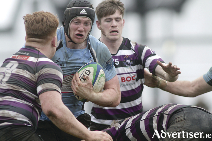 Galwegians' Adrian Moynihan in action from the Ulster Bank AIL Division 1 a game against Terenure College in Crowley Park on Saturday.  Photo:-Mike Shaughnessy