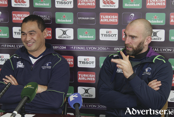 Connacht coach Pat Lam and captain John Muldoon in confident mood ahead of Connacht's trip to France for the European Challenge Cup quarter-final. Photo:-Mike Shaughnessy