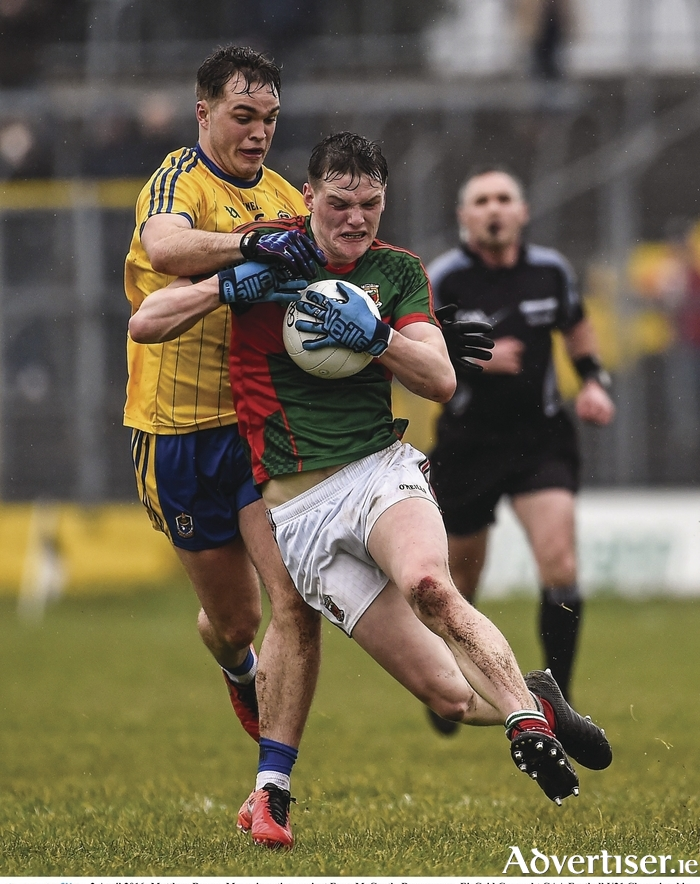 Making the hard yards: Matthew Ruane and the Mayo u21s produced a marvelous victory last weekend. Photo: Sportsfile