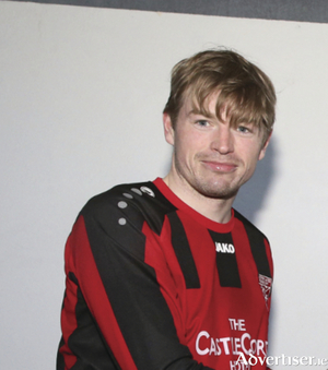 Back of the net: Dave Hoban scored for Westport United in their league opener last weekend.