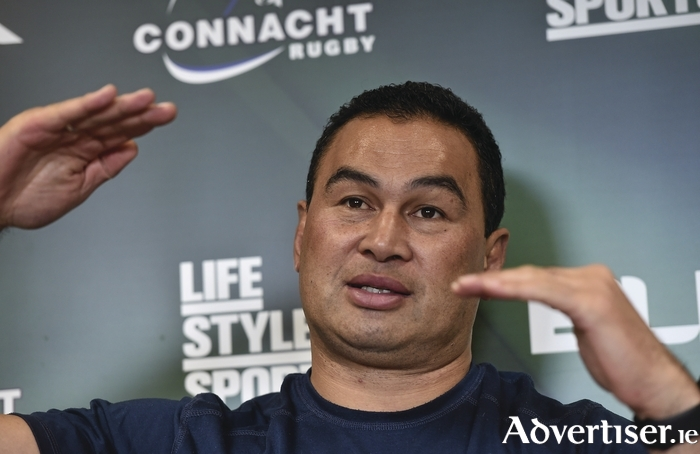Making the inches: Connacht coach Pat Lam is looking to see his side make the right decisions to get over the line on Sunday. Photo: Sportsfile