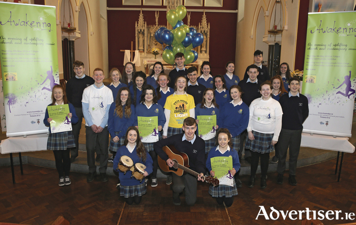 Students at the launch of Awakening 2016 in Castlebar. Photo: Michael Donnelly