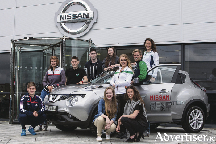 The search for ten Nissan Generation Next ambassadors was launched by the members of the class of 2015. Pictured back row (l-r) Alan Cadogan, Monika Dukarska, Paul O'Donovan, Gareth Sheridan, Ciara Judge; middle row (l-r) Catherine McManus, Arthur Lanigan-O'Keeffe, Jenny Egan; front row (l-r) Emer Hickey, Rebecca Marsden.
