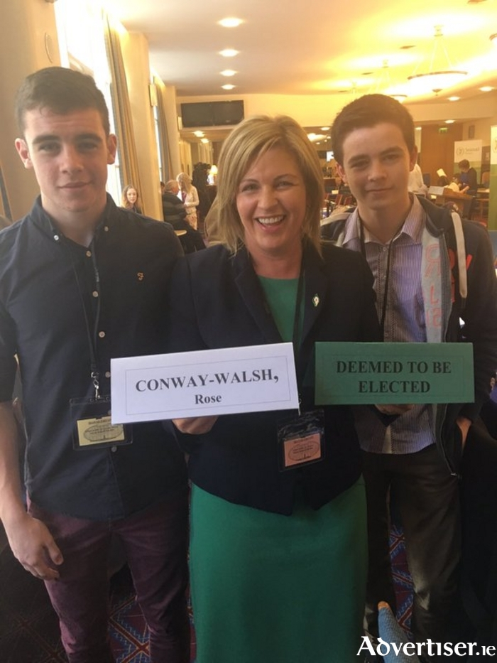 Rose Conway Walsh was elected on the first count on the Agriculture panel in the Seanad elections.