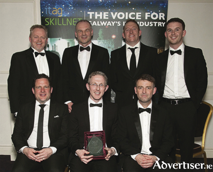 Back row: Kevin McCaffrey (Tr3dent), Eamonn O'Donoghue (One Touch Telecare), Turlough Rafferty (GMIT iHub) and Michael Burke (Tr3dent). Front row: Eamon Crosby (BriteBiz), Dermot Clancy (One Touch Telecare) and Ciarán Flynn (Clearbookings).