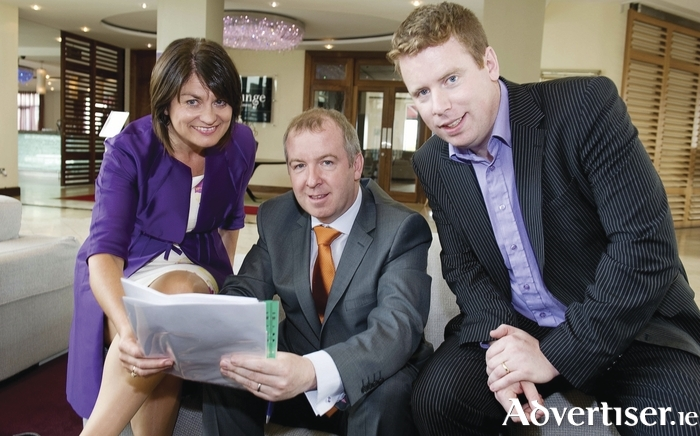 Fidelma Healy-Eames, Brian Walsh, and Paul Connaughton ahead of contesting the 2011 General Election. None of them is in the Oireachtas now.