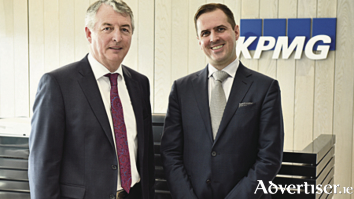 Martin Shanahan (right), CEO of IDA Ireland pictured on his recent visit to Galway with Brian Thornton, partner in charge of KPMG's Galway office.