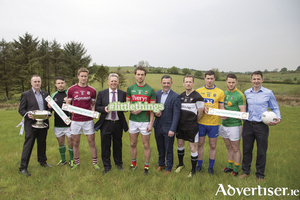Pictured at the launch of the Connacht Championship at the Connacht GAA Centre of Excellence were from left to right; Ciaran Lynch (HSE Mental Health Services), Dave McGreevy (London), Gary O'Donnell (Galway), Gerry Raleigh (director of National Office of Suicide Prevention), Tom Parsons (Mayo), Tomas Murphy (area director of nursing, HSE, CHO Area 1) Mark Breheny (Sligo), Cathal Cregg (Roscommon), GaryReynolds (Leitrim) and Peadar Gardiner, project manager at Mindspace Mayo as part of the HSE's #thelittlethings mental health campaign. Photo: Keith Heneghan / Phocus.