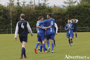 Manulla celebrate hitting the back of the net last weekend Who'll be celebrating this weekend?
