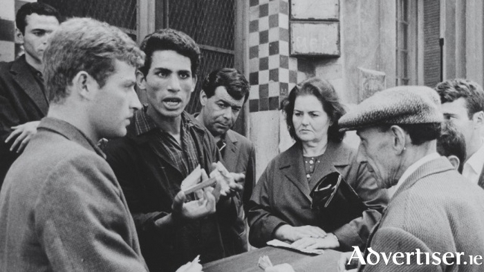 A scene from the film Battle of Algiers.