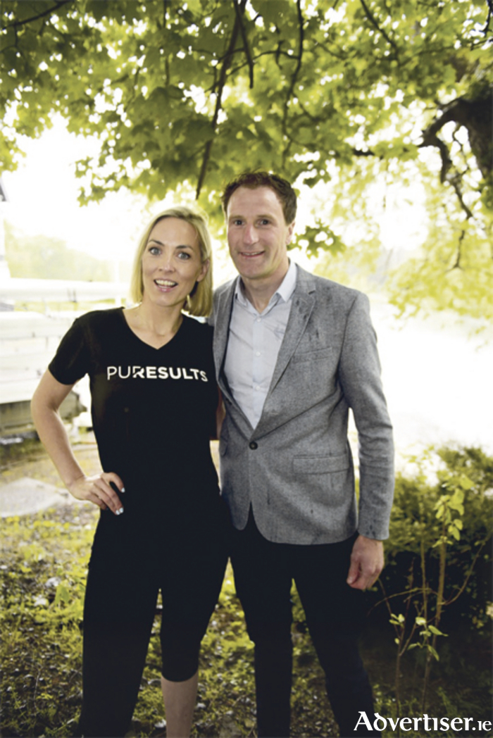 TV presenter and founder of Pure Results, Kathryn Thomas, pictured with sports psychologist Gerry Hussey