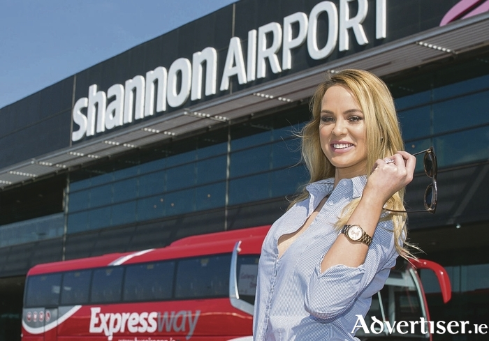 Pictured at the launch in Shannon Airport is Kellie McGrath from Portumna Pic Arthur Ellis.