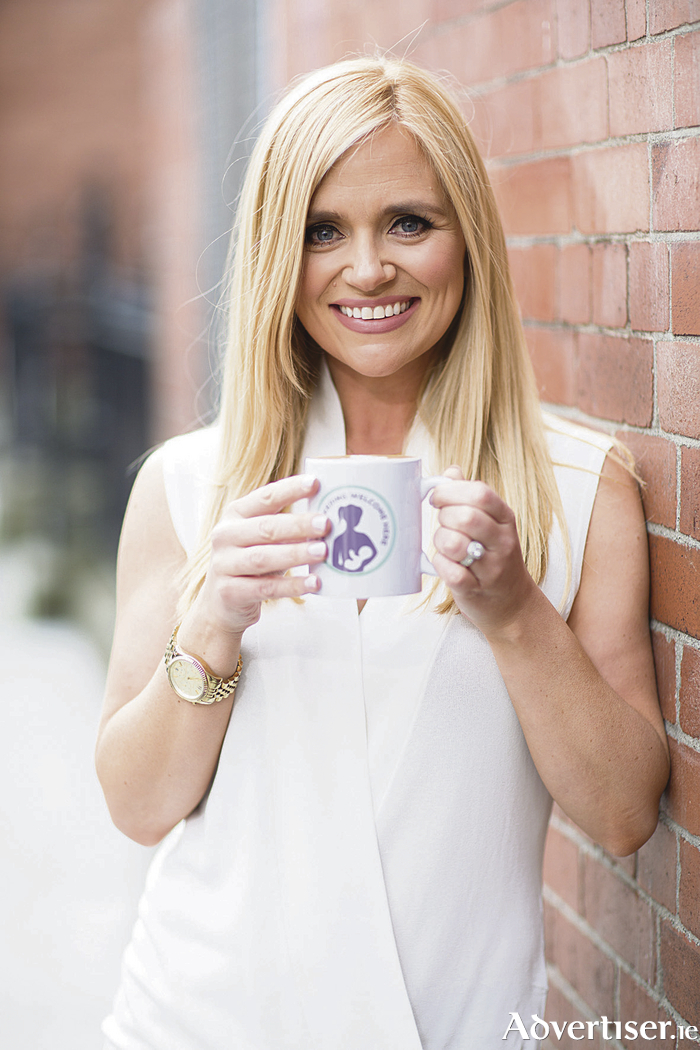 Pictured launching the 'breastfeeding welcome here mark' by First 1000 Days is mum of two and Xposé star Karen Koster. Photo: Naoise Culhane.