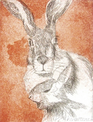 Hares by Heidi Reich.