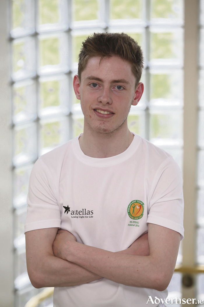 Going for gold: Mayo's Matthew McNieve will be the youngest member of team Ireland at the European Transplant and Dialysis games. Photo: Conor McCabe Photography.