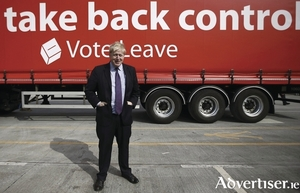 Boris Johnson and the battlebus.